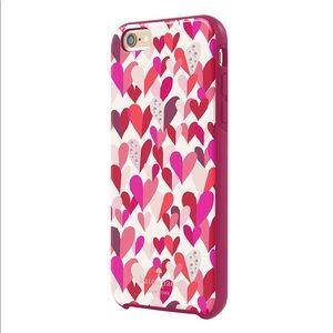 Kate Spade Crystal Jeweled/Confetti Heart Case